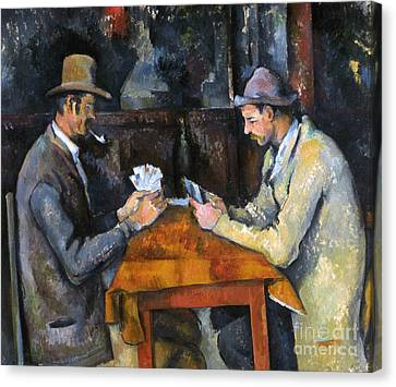 Cezanne: Card Player, C1892 Canvas Print by Granger