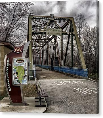 Chain Of Rocks Bridge Route 66 Dsc09586-7-8 Canvas Print by Greg Kluempers