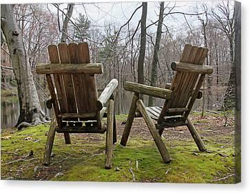 Chairs Canvas Print by Bob Slitzan
