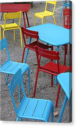 Chairs In Bryant Park Canvas Print by Lauri Novak