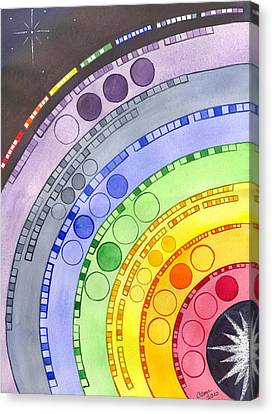 Chakras Canvas Print by Catherine G McElroy