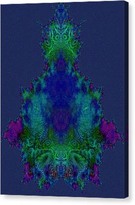 Chakras Fractal Canvas Print by Fractal Art