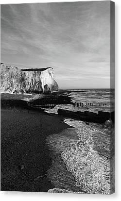 Chalk Cliffs At Seaford Head England Canvas Print by James Brunker