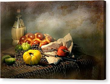 Challah Bread Canvas Print by Diana Angstadt