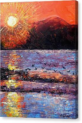 Champagne Sunset.  Canvas Print by Caroline Street