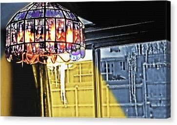 Chandelier - Warm Glow Canvas Print by Steve Ohlsen