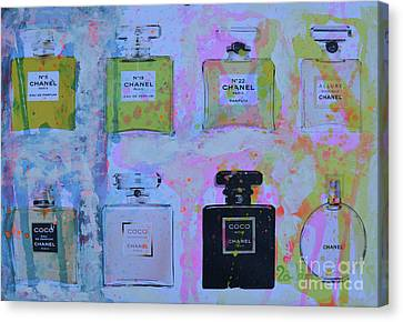 Chanel Perfume Canvas Print by To-Tam Gerwe
