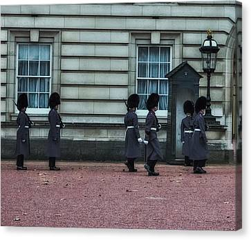 Changing Of The Guard Canvas Print by Martin Newman