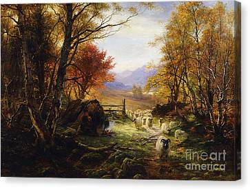 Changing Pastures, Evening Canvas Print by Joseph Farquharson