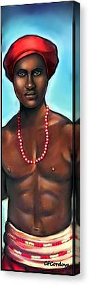 Chango -santeria Warrior Canvas Print by Carmen Cordova