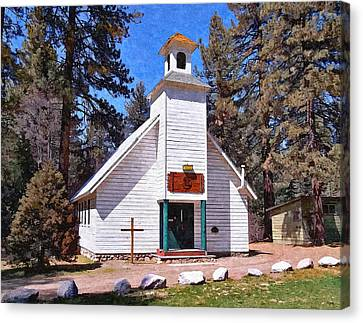 Chapel On The Mountain Canvas Print by Glenn McCarthy Art and Photography