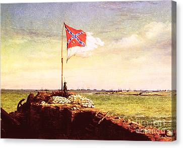 Chapman Fort Sumter Flag Canvas Print by Granger