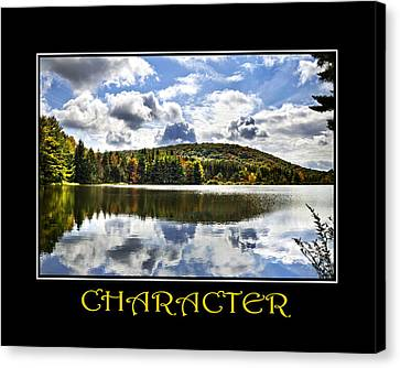 Character Inspirational Motivational Poster Art Canvas Print by Christina Rollo
