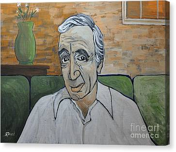 Charles Aznavour Canvas Print by Reb Frost