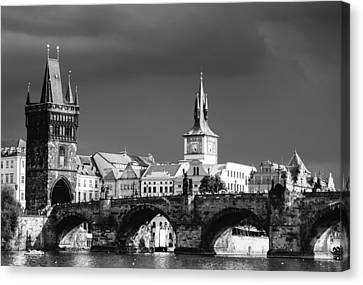 Charles Bridge Prague Czech Republic Canvas Print by Matthias Hauser