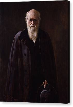 Charles Darwin - By John Collier Canvas Print by War Is Hell Store