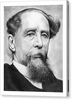 Charles Dickens Canvas Print by Greg Joens