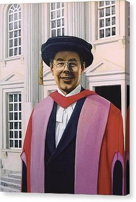 Charles Harpum Receiving Doctorate Of Law Canvas Print by Richard Harpum