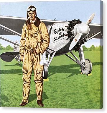 Charles Lindbergh Canvas Print by John Keay