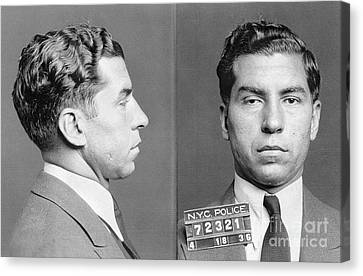 Charles Lucky Luciano Canvas Print by Granger