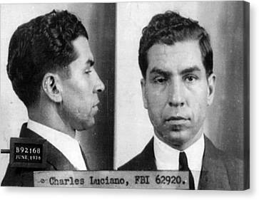 Charles Lucky Luciano Mug Shot 1931 Horizontal Canvas Print by Tony Rubino