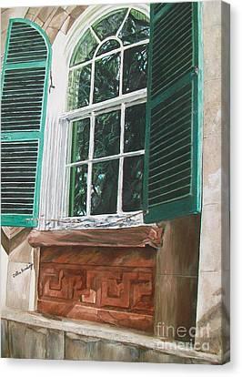 Charleston-a Reflective View Canvas Print by Debbie Broadway
