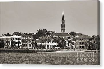 Charleston Battery South Carolina Sepia Canvas Print by Dustin K Ryan