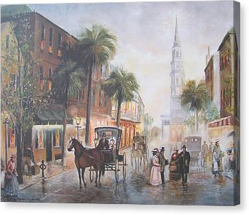 Charleston Somewhere In Time Canvas Print by Charles Roy Smith