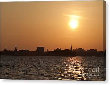 Charleston South Carolina Skyline Sunset Canvas Print by Dustin K Ryan