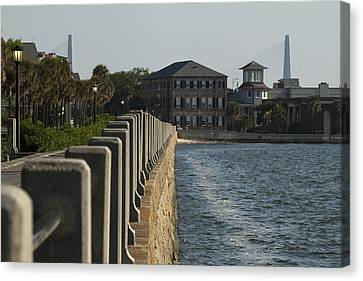 Charleston South Carolina Waterfront Battery Canvas Print by Dustin K Ryan