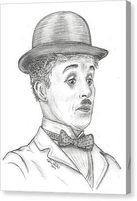 Charlie Chaplin Canvas Print by Steven White