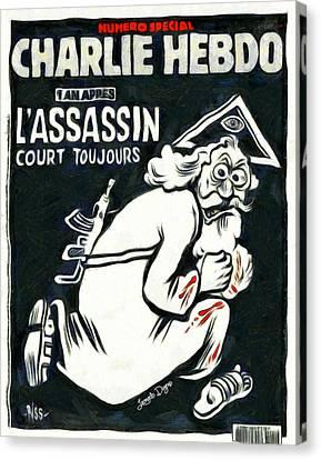 Charlie Hebdo One Year Later Canvas Print by Leonardo Digenio