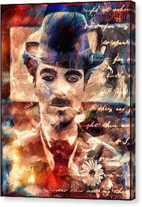 Charlot Colors And Poems  Canvas Print by Daniel Arrhakis