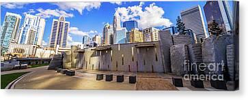 Charlotte North Carolina Panorama Photo Canvas Print by Paul Velgos