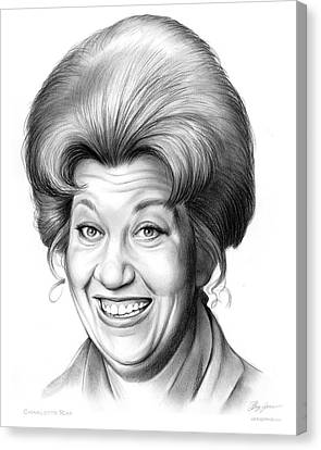 Charlotte Rae Canvas Print by Greg Joens