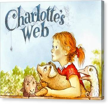 Charlottes Web Canvas Print by Elizabeth Coats