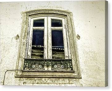 Charming Old Window In Europe Canvas Print by Marion McCristall
