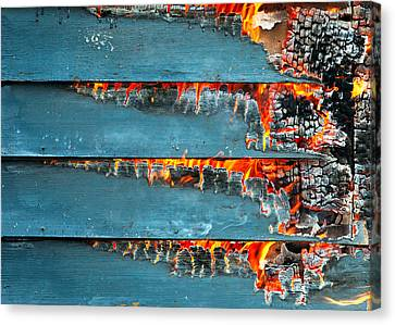 Charred Remains Canvas Print by Todd Klassy