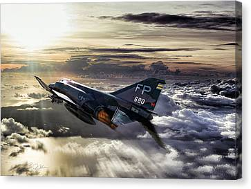 Chasing The Sun Robin Olds Canvas Print by Peter Chilelli