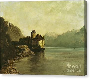 Chateau De Chillon Canvas Print by Gustave Courbet