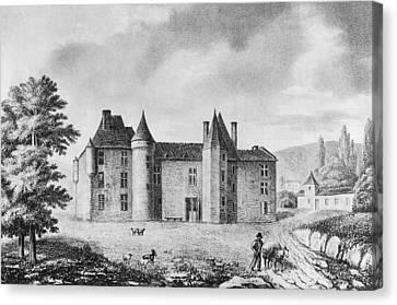Chateau De Montaigne Canvas Print by French School