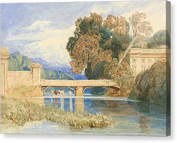 Chateau Navarre, Near Evreux, Normandy Canvas Print by John Sell Cotman