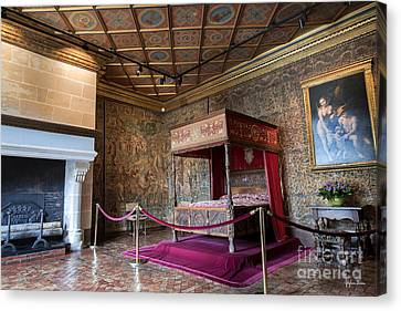 Chateau Of Chenonceau Catherine De Medici Bedroom Canvas Print by Yefim Bam