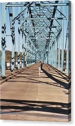 Chattanooga Walking Bridge Canvas Print by Jake Hartz