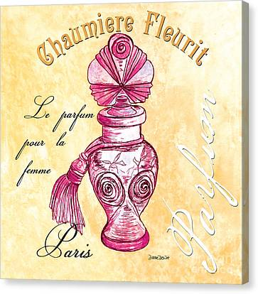 Chaumiere Fleurit Canvas Print by Debbie DeWitt