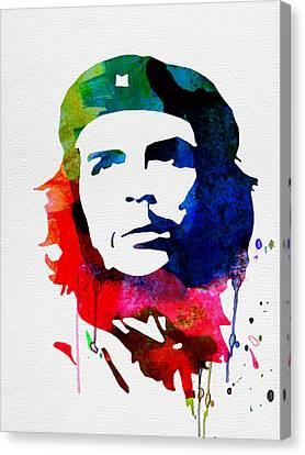 Che Guevara Watercolor 2 Canvas Print by Naxart Studio
