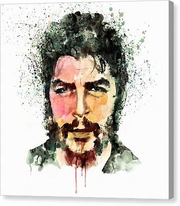 Che Guevara Watercolor Canvas Print by Marian Voicu