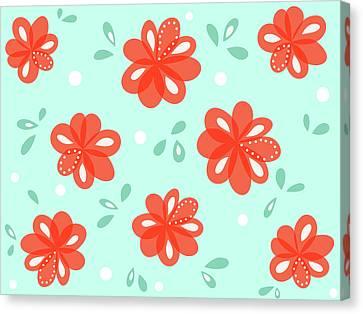 Cheerful Red Flowers Canvas Print by Boriana Giormova