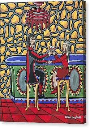 Cheers Up My Bloody Valentine Canvas Print by Deidre Firestone