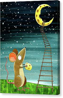 Cheese Moon  Canvas Print by Andrew Hitchen